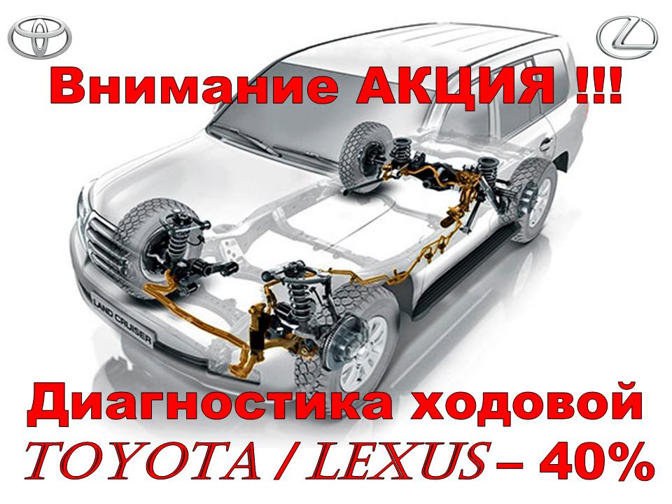 диагностика ходовой Toyota Lexus